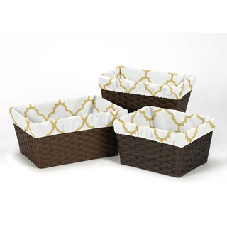 Sweet Jojo Designs Ava Collection Basket Liners (Pack of 3)