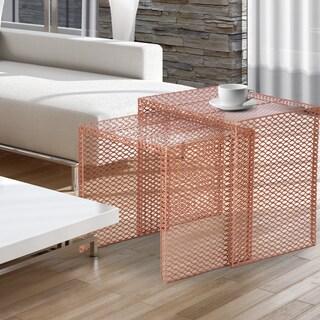 Modern Design Metal Nesting Side Tables (Set of 2)