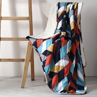 Clairebella Geometric 50 x 70 Reversible Throw