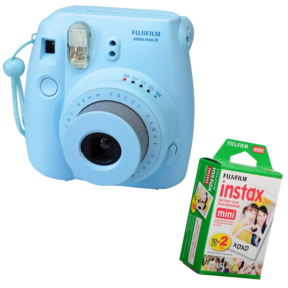 Fuji Instax Mini 8 Instant Film Camera Bundle (Yellow)