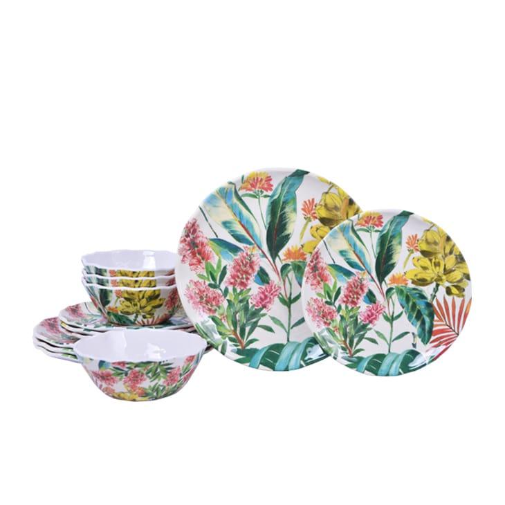 222 Fifth Tamea Floral 12-Piece Dinnerware Set (Service f...