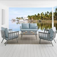 Vera Collection 4-piece Seating Group - Sky Blue
