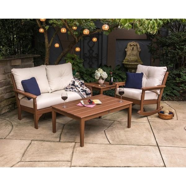 Shop Polywood 174 Vineyard Outdoor Deep Seating Settee Free