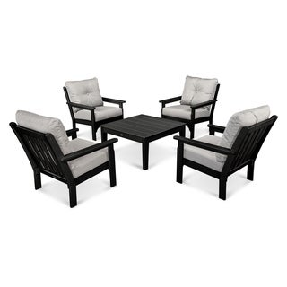 Polywood Vineyard Outdoor Cushioned 5 Piece Conversation Set