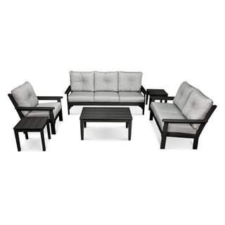 POLYWOOD® Vineyard 6-piece Outdoor Deep Seating Set