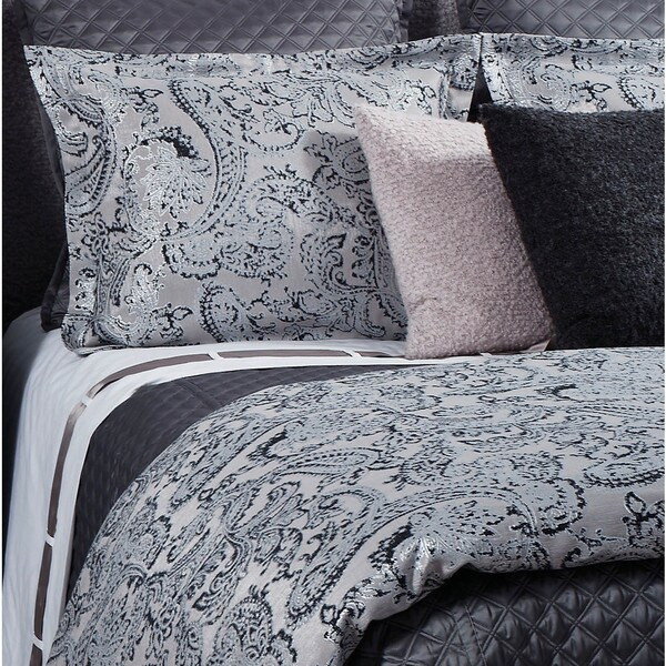 Ann Gish Charcoal Arabesque Duvet Set