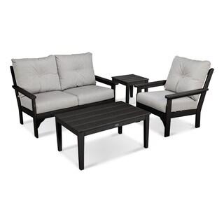 POLYWOOD Vineyard Outdoor 4-piece Deep Seating Set