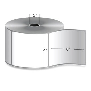 3-inch Core 4-inch x 6-inch Direct Thermal Shipping Label (1,000 per Roll)