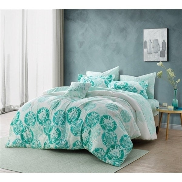 BYB Calico Mint Comforter Set. Opens flyout.
