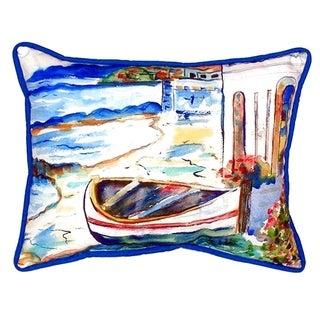 Sicilian Shore Small Indoor/ Outdoor Throw Pillow