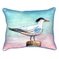 Royal Tern Small Indoor/ Outdoor Throw Pillow