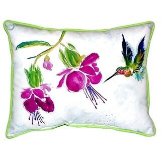 Purple Hummingbird Small Indoor/ Outdoor Throw Pillow
