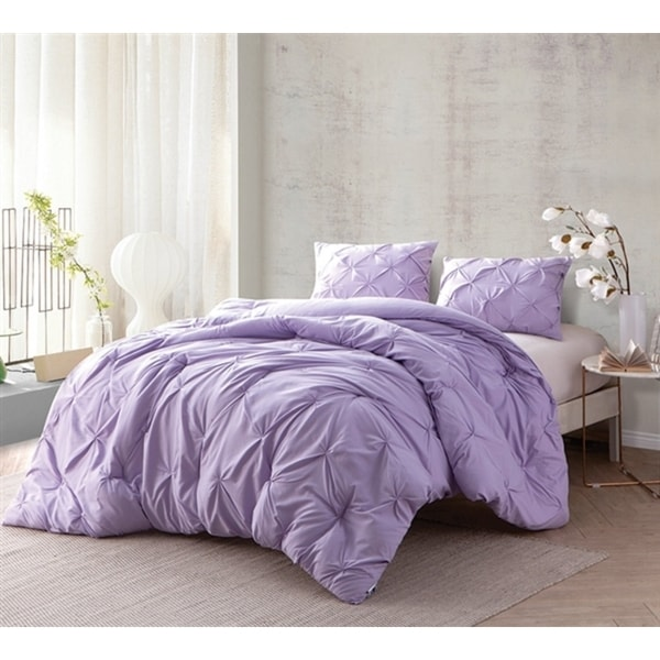 BYB Orchid Petal Pin Tuck Comforter Set. Opens flyout.