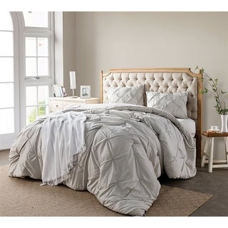 BYB Silver Birch Pin Tuck Comforter Set