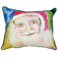 Santa Face Small Indoor/ Outdoor Throw Pillow