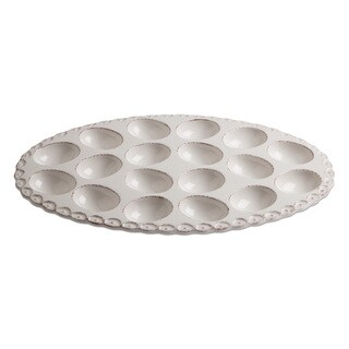 TAG Sculpted Rim Egg Plate