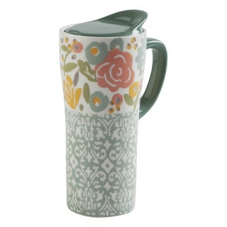 TAG Floral Travel Mug With Handle