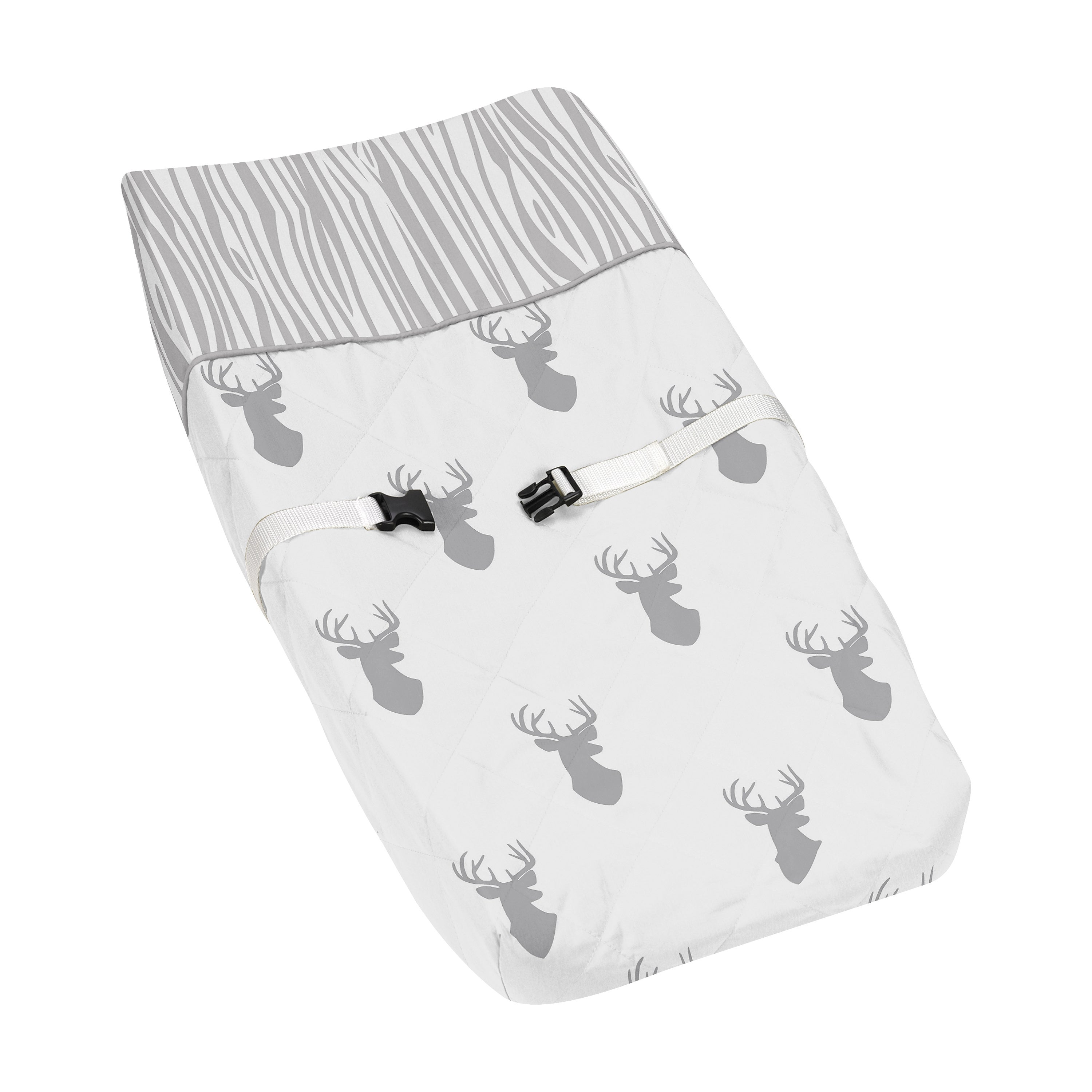 JoJo Designs Stag Collection Grey and White Changing Pad ...
