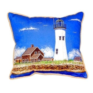 Scituate MA Lighthouse Small Indoor/ Outdoor Throw Pillow