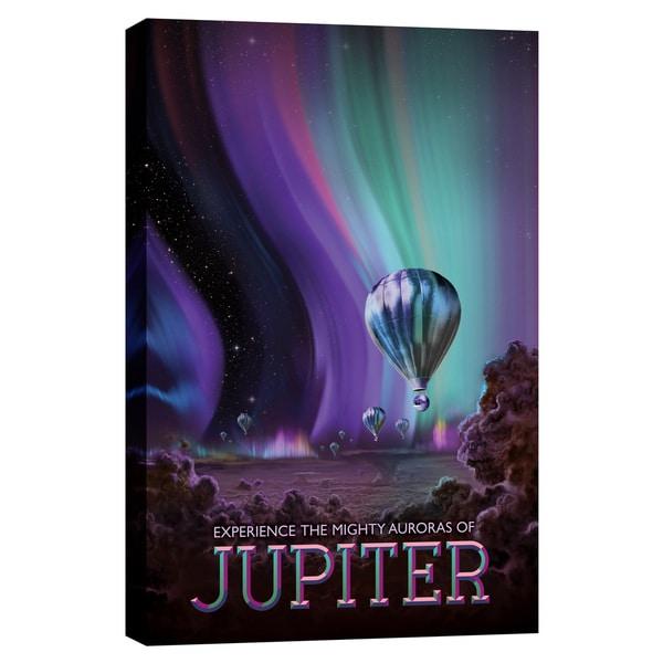 Epic Graffiti 'Visions of the Future: Jupiter' Giclee Canvas Wall Art - Green