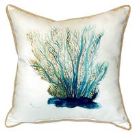 Blue Coral Small Indoor/Outdoor Throw Pillow 12x12
