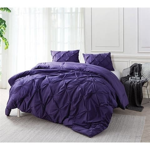BYB Purple Reign Pin Tuck Comforter Set