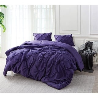 BYB Purple Reign Pin Tuck Comforter Set (Shams Not Included)