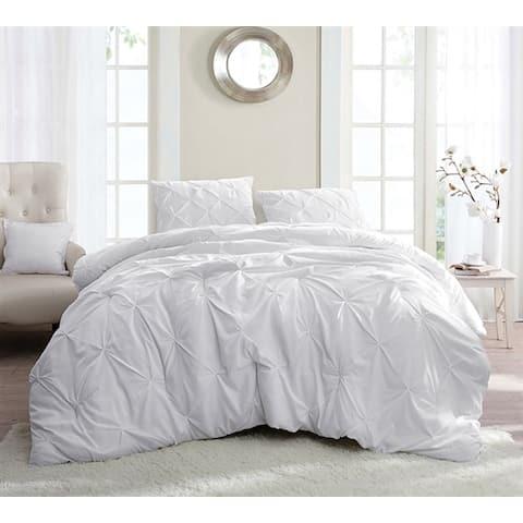 BYB White Pin Tuck Comforter Set