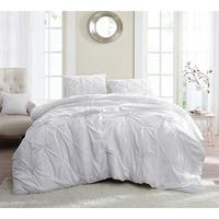 BYB White Pin Tuck Comforter Set