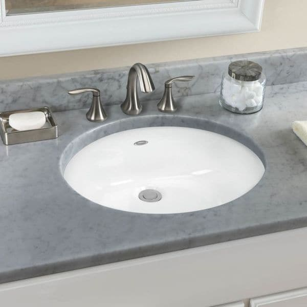 American Standard Ovalyn White Vitreous China Bathroom Undermount Sink  0497.300.020   Free Shipping Today   Overstock.com   21148533
