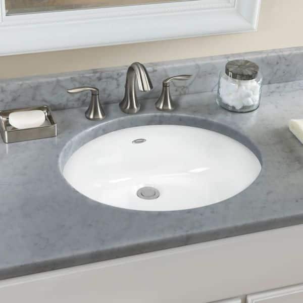 American Standard Ovalyn White Vitreous China Bathroom Undermount Sink 0497 300 020 Overstock 14604273