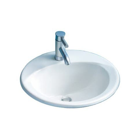 Toto Ultimate Drop In Porcelain Bathroom Sink LT512G#01 Cotton White