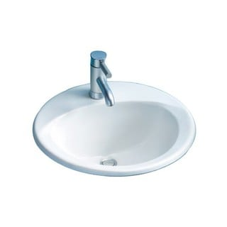 Toto Ultimate Drop In Vitreous China Bathroom Sink Cotton White LT512G#01