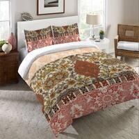 Laural Home Boho Red Tapestry Duvet Cover