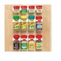 Spice Clip White Plastic 12-jar Spice Rack