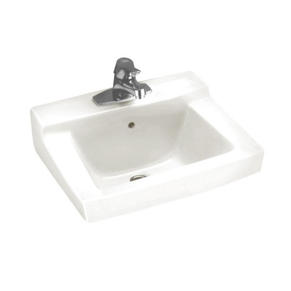 Shop American Standard Boxe White Fireclay Drop-In Bathroom Sink ...