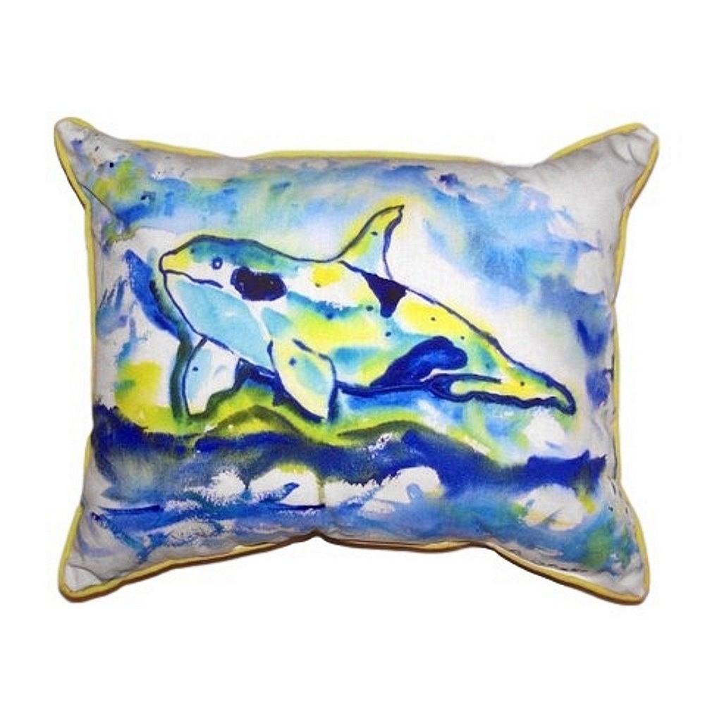 Pillow Perfect Rectangular Fish Throw Pillow Blue
