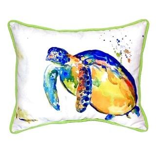 Blue Sea Turtle II Small Indoor/ Outdoor Throw Pillow