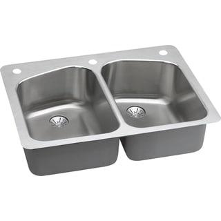 Elkay Harmony Drop-in/ Undermount Stainless Steel Double Basin Kitchen Sink