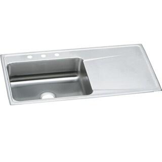 Elkay Gourmet Drop In/Self Rimming Steel Kitchen Sink ILR4322LMR2 Lustertone