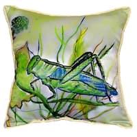 Grasshopper Small Indoor/ Outdoor Throw Pillow