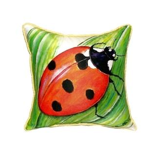 Ladybug Small Indoor/ Outdoor Throw Pillow