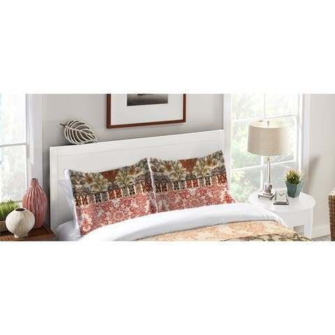Laural Home Boho Red Tapestry Standard Pillow Sham