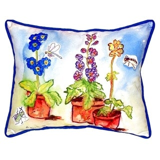 Potted Flowers Small Indoor/ Outdoor Throw Pillow