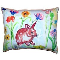 Whiskers Bunny Small Indoor/Outdoor Throw Pillow 11x14