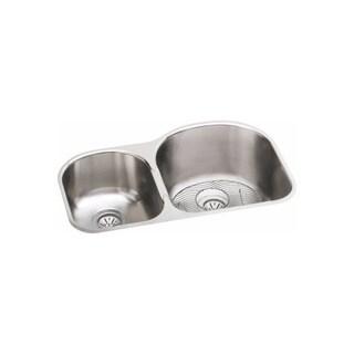 Elkay Harmony Soft Highlighted Satin Stainless Steel Undermount Double Basin Kitchen Sink