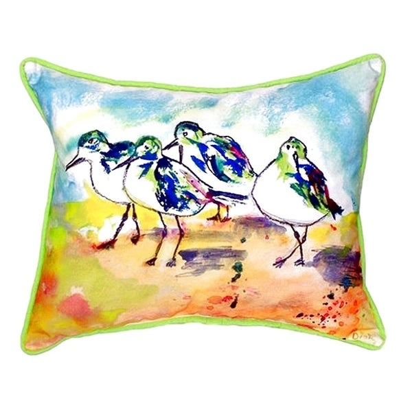 Sanderlings Small Indoor/ Outdoor Throw Pillow