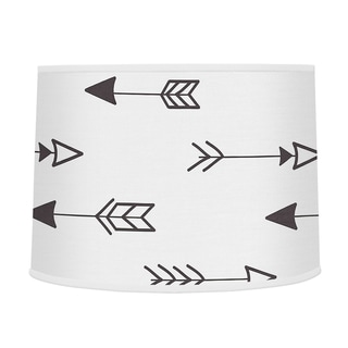 Sweet Jojo Designs Large Arrow Print Lamp Shade for the Black and White Fox Collection