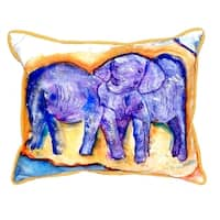 Elephants Small Indoor/ Outdoor Throw Pillow
