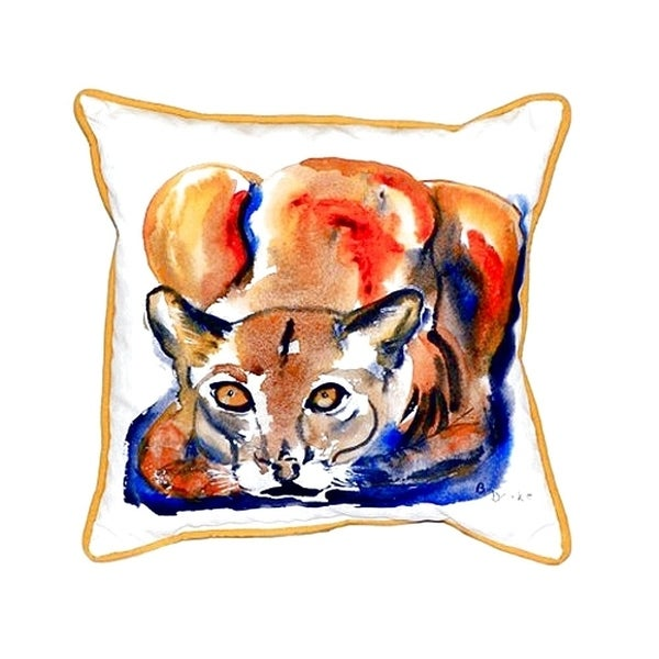 Cougar Small Indoor/ Outdoor Throw Pillow